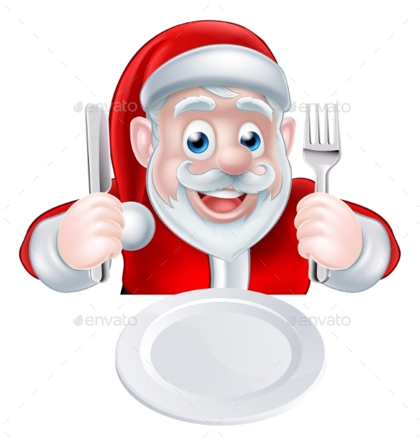 Santa Christmas Dinner - Food Objects