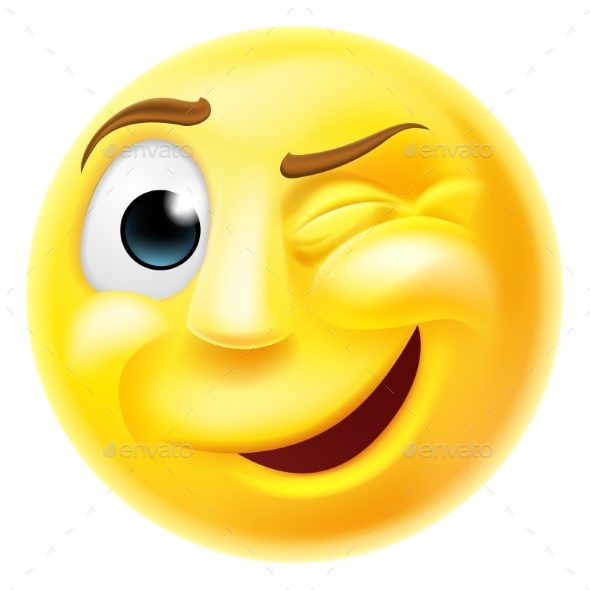 Winking Emoji Emoticon - Miscellaneous Characters