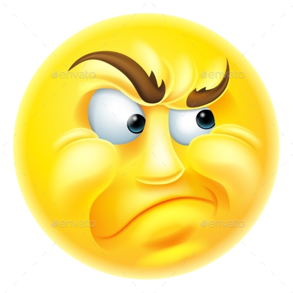 Angry or Jealous Emoticon Emoji - Miscellaneous Characters