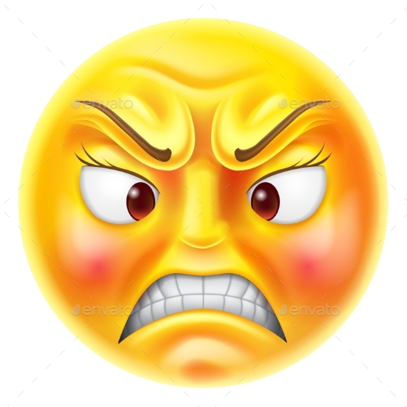 Angry Emoticon Emoji By Krisdog Graphicriver
