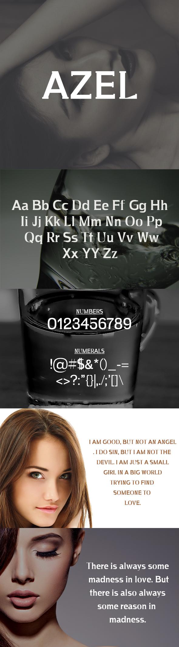 Azel Serif Typeface - Serif Fonts