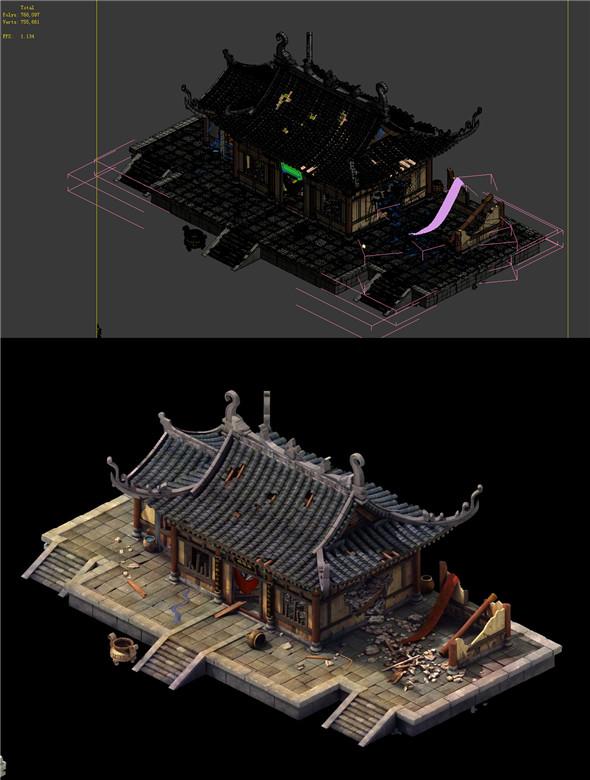 Game Model - prairie scene - Broken Temple 05 01 - 3DOcean Item for Sale