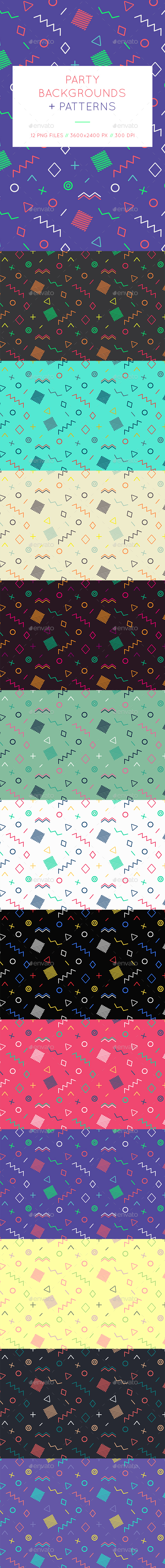 Memphis Geometric Backgrounds