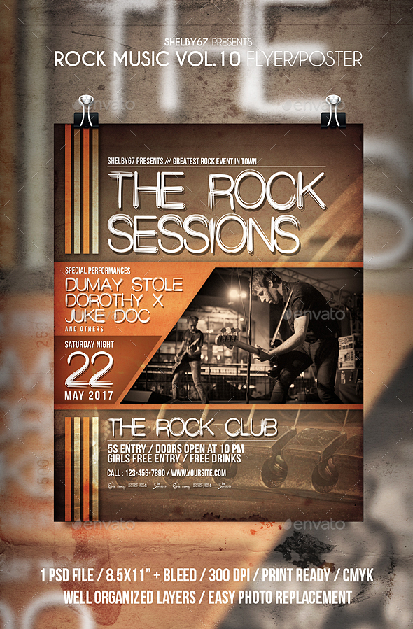 Rock Music Flyer / Poster Vol 10 - Events Flyers