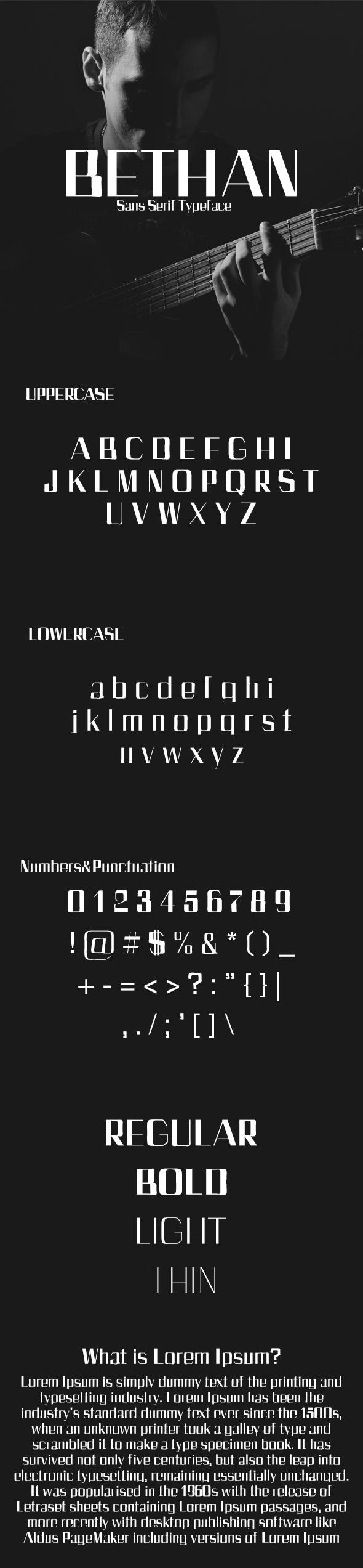 Bethan Sans Serif Typeface - Sans-Serif Fonts