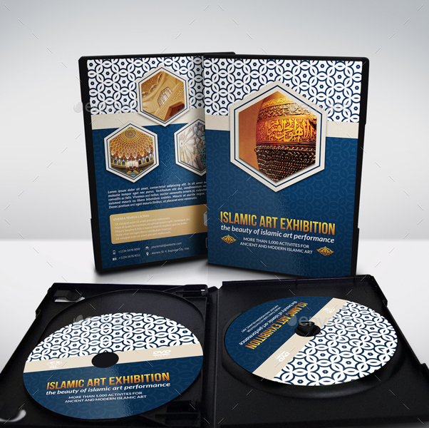 exhibit label template - islamic dvd cover and label template by owpictures