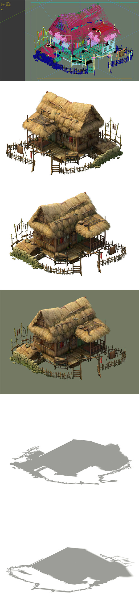 Game Model - prairie scene - Grass house 01 - 3DOcean Item for Sale
