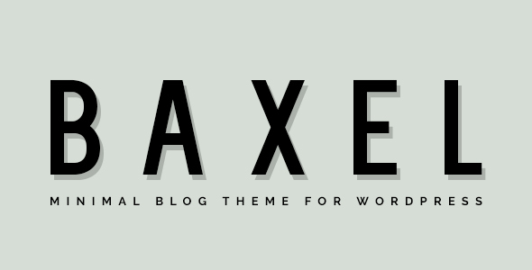 Baxel – Minimal Blog Theme for WordPress