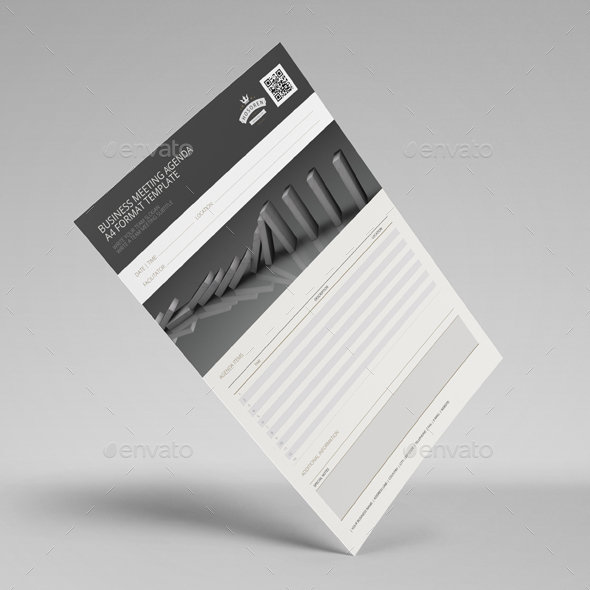 Business Meeting Agenda A4 Template By Keboto | Graphicriver