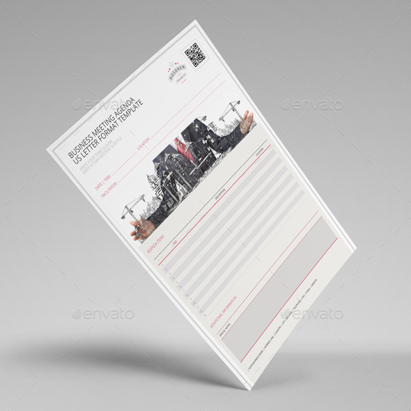 Business Meeting Agenda Us Letter Template By Keboto | Graphicriver