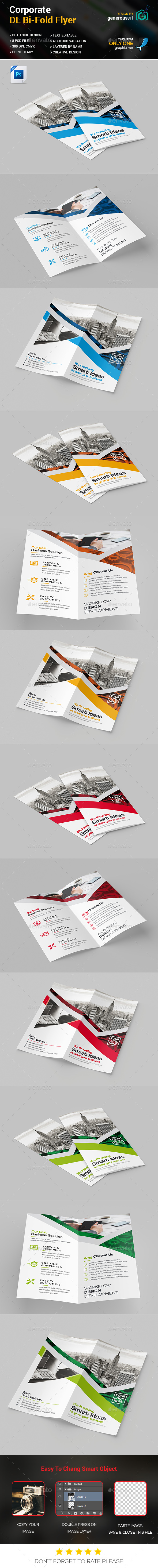 DL Bi-Fold Brochure - Corporate Brochures