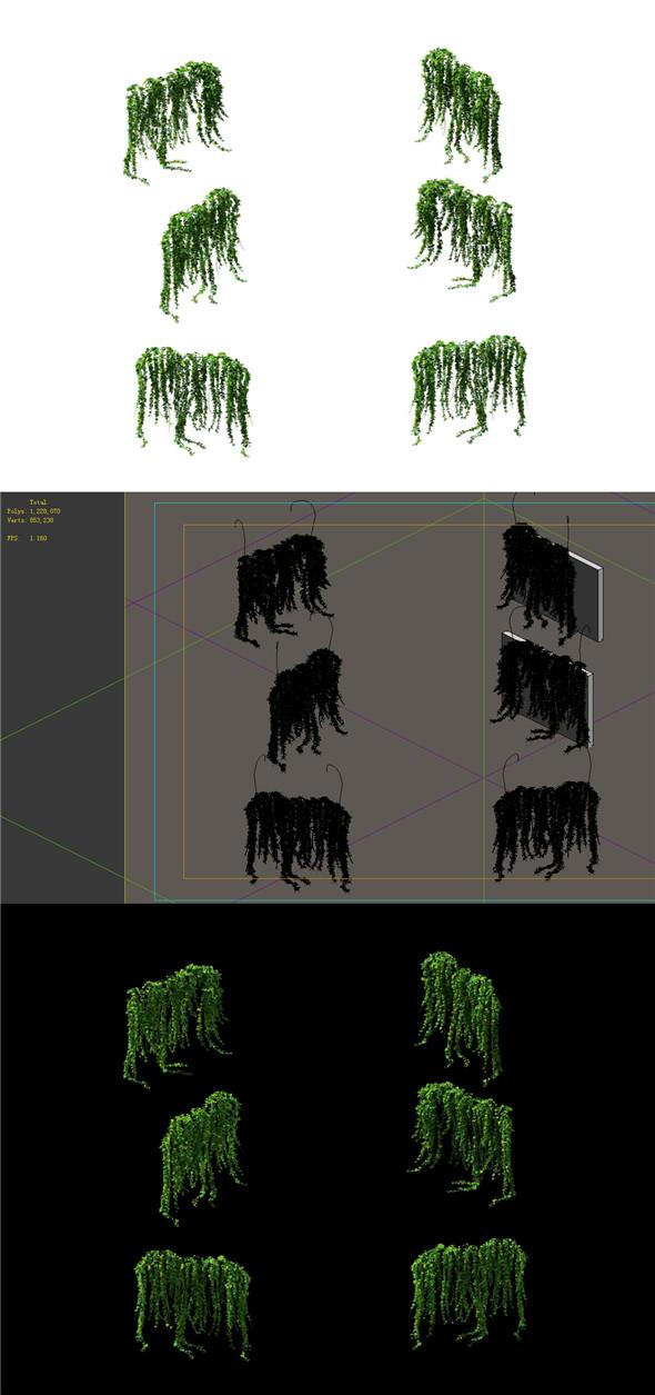 Game Model - prairie scene - ivy 01 01 - 3DOcean Item for Sale