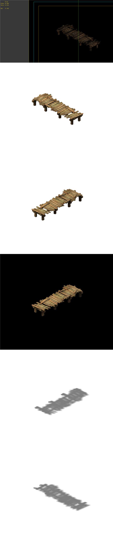 Game Model - prairie scene - wooden bridge 01 - 3DOcean Item for Sale