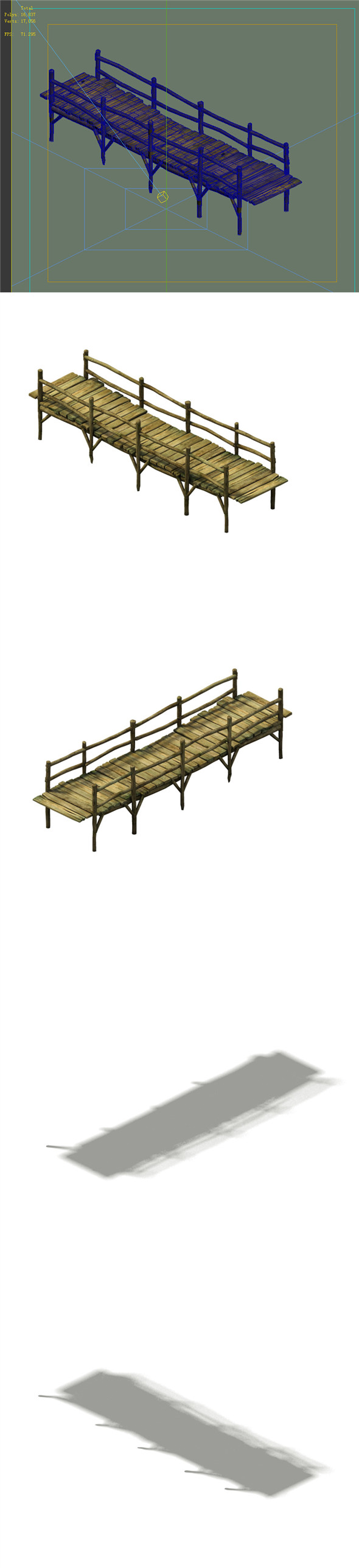 Game Model - prairie scene - wooden bridge 02 01 - 3DOcean Item for Sale