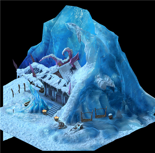 Game Model - snow - Building a house 01 - 3DOcean Item for Sale