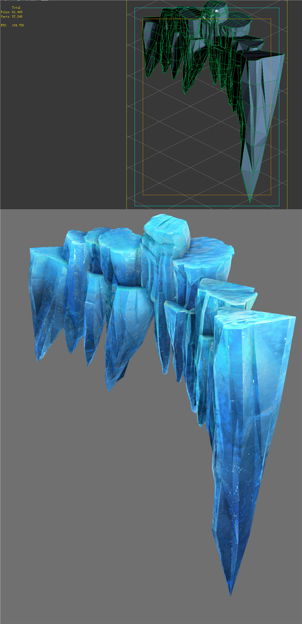 Game Model - snow - cliff 01 01 - 3DOcean Item for Sale