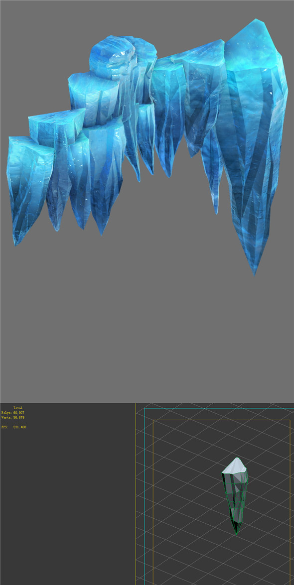 Game Model - snow - cliff 02 01 - 3DOcean Item for Sale