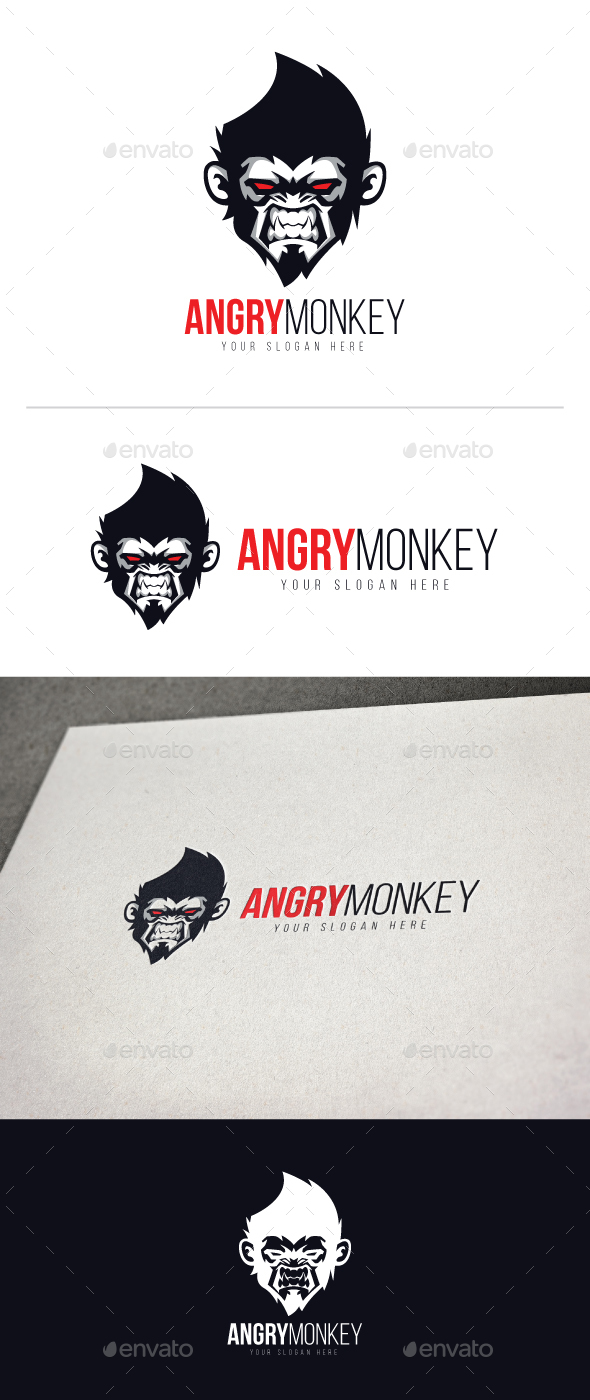 Angry Monkey Logo - Animals Logo Templates
