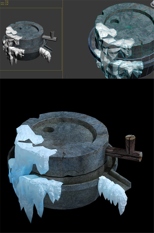 Game Model - snow - Graphite 01 - 3DOcean Item for Sale