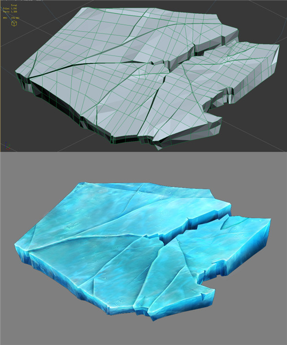 Game Model - snow - ice 01 - 3DOcean Item for Sale