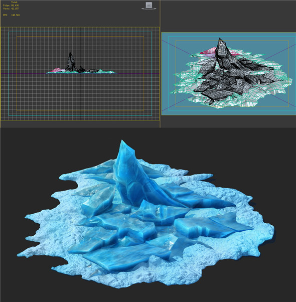 Game Model - snow - ice heap 01 - 3DOcean Item for Sale