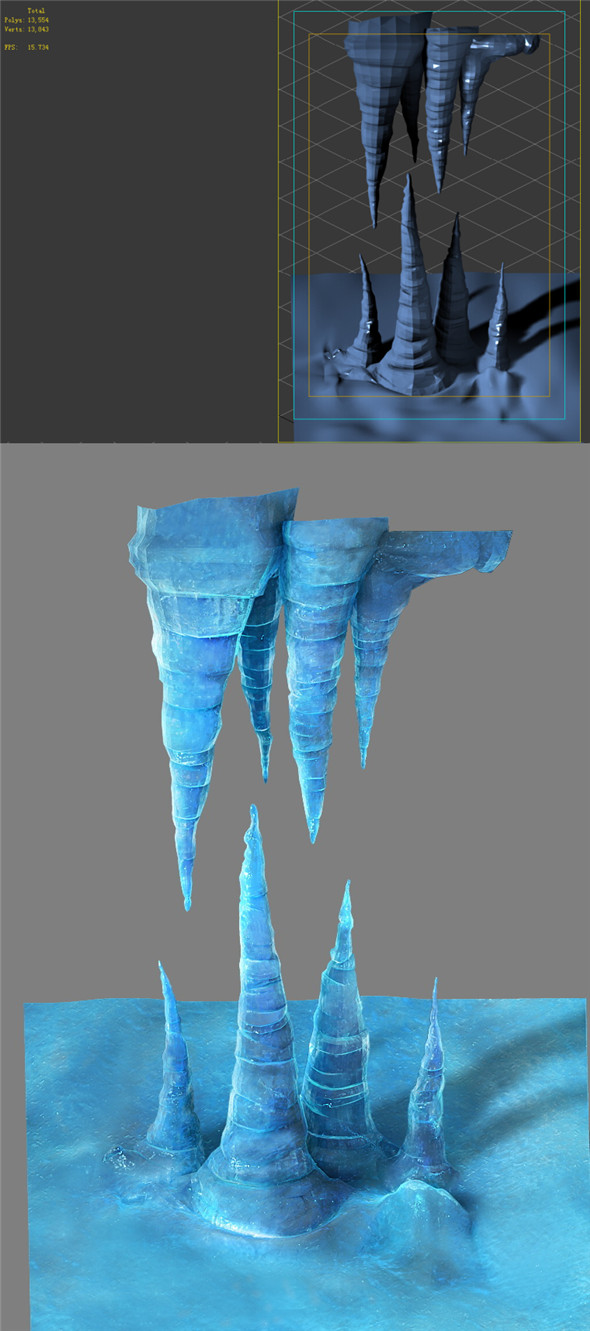 Game Model - snow - ice shoots 01 - 3DOcean Item for Sale