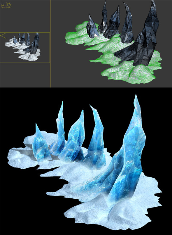 Game Model - snow - near the entrance picks 03 fanglike 01 - 3DOcean Item for Sale
