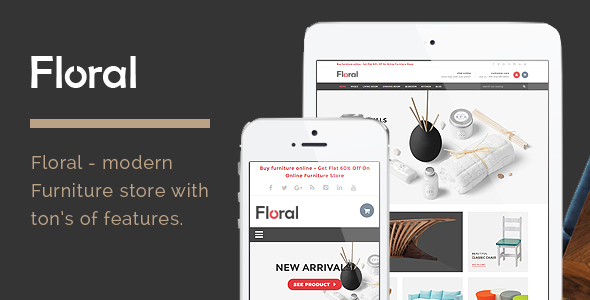 Floral - Furniture Store HTML Template - Shopping Retail