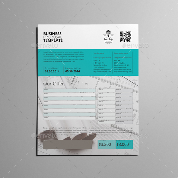 Business Proposal Template Single Page Us Letter By Keboto