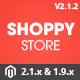Shoppy Store - Responsive Magento 2 and 1.9 Theme Nulled