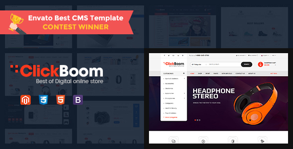 ClickBoom - Responsive Magento 2 Theme for Digital/Fashion Online Shop - Shopping Magento