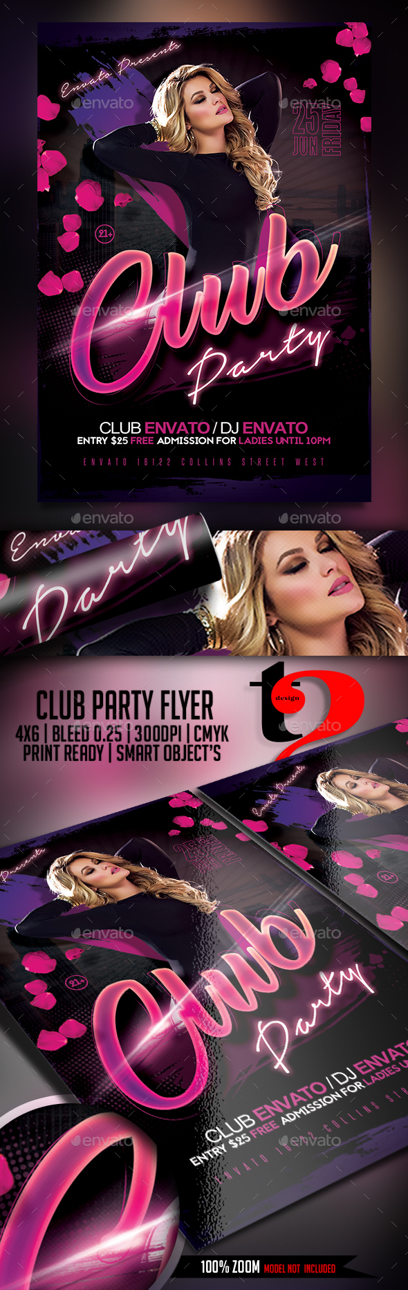 Club Party Flyer Template - Clubs & Parties Events