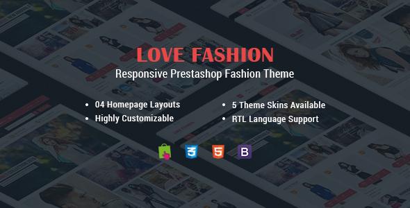 Love Fashion - Responsive Prestashop Fashion Theme