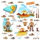 Different Fish and Fisherman - GraphicRiver Item for Sale