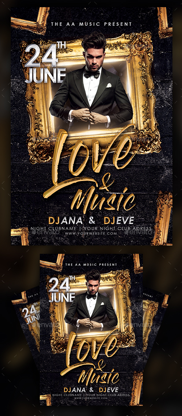 Love & Music Flyer - Clubs & Parties Events