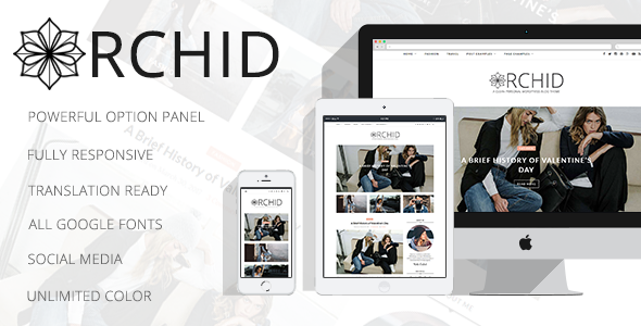 Orchid – A Clean Personal WordPress Blog Theme