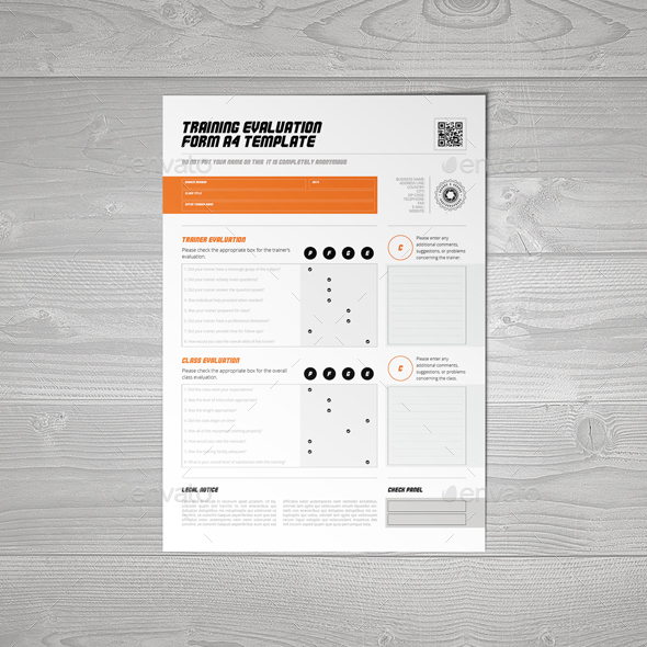 Training Evaluation Form A Template By Keboto  Graphicriver
