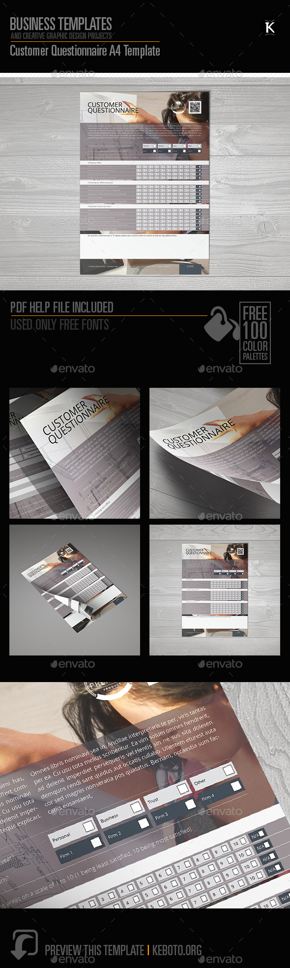InDesign Questionnaire Template Graphics, Designs & Templates