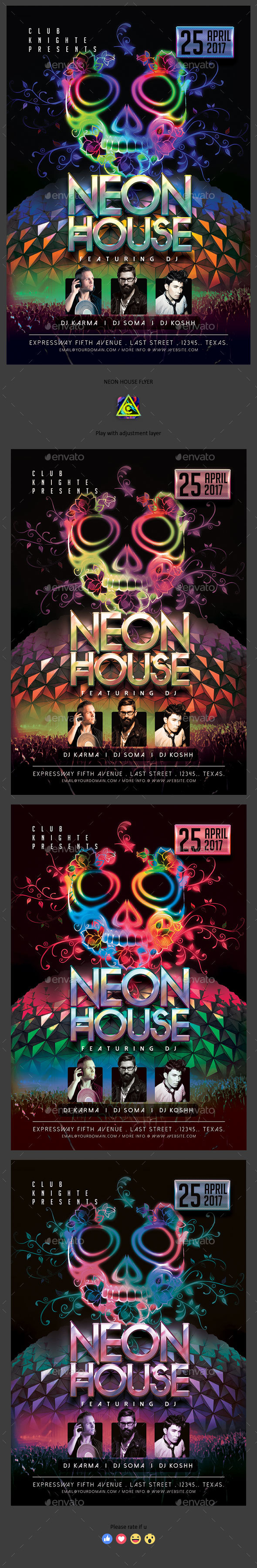 Neon House Flyer - Clubs & Parties Events