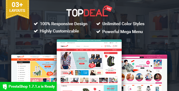 SP TopDeal – Multipurpose Responsive PrestaShop 1.7 Theme
