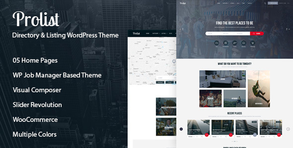 Prolist - Directory & Listing WordPress Theme