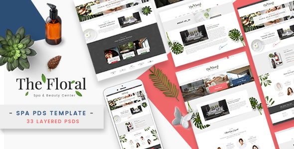 Floral – Spa and Beauty PSD Template