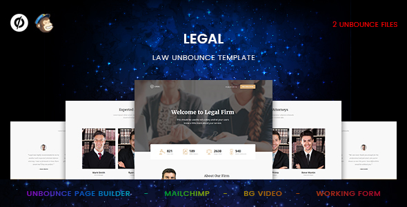 Legal – Law Unbounce Template