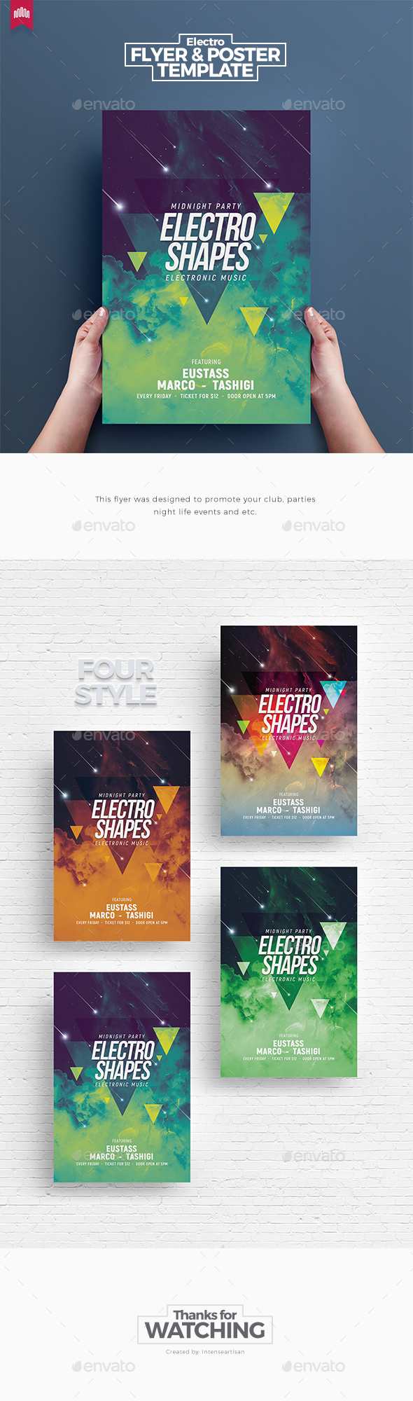 Electro Shapes - Flyer Template - Clubs & Parties Events