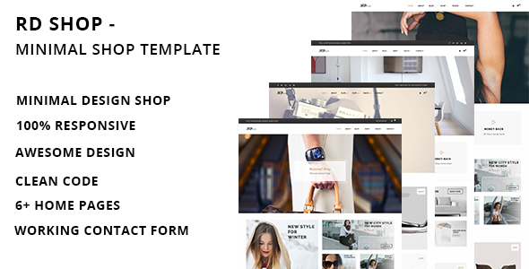 RD Shop – Creative Minimal Shop HTML Template