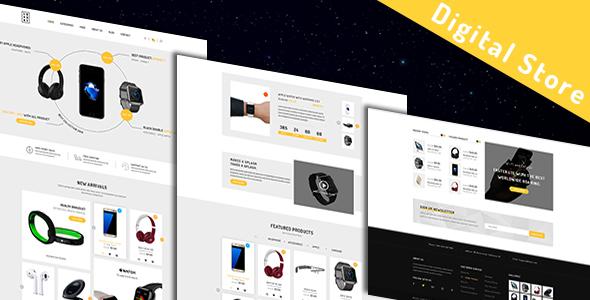 Luxury - Modern Digital Store - Technology PSD Templates