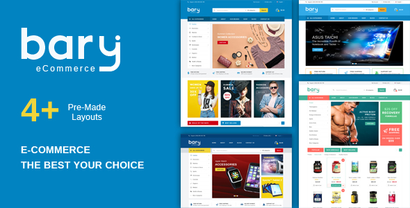 Bary Multipurpose Responsive Fashion Woocommerce