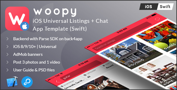 woopy | iOS Universal Listings + Chat App Template (Swift) - CodeCanyon Item for Sale