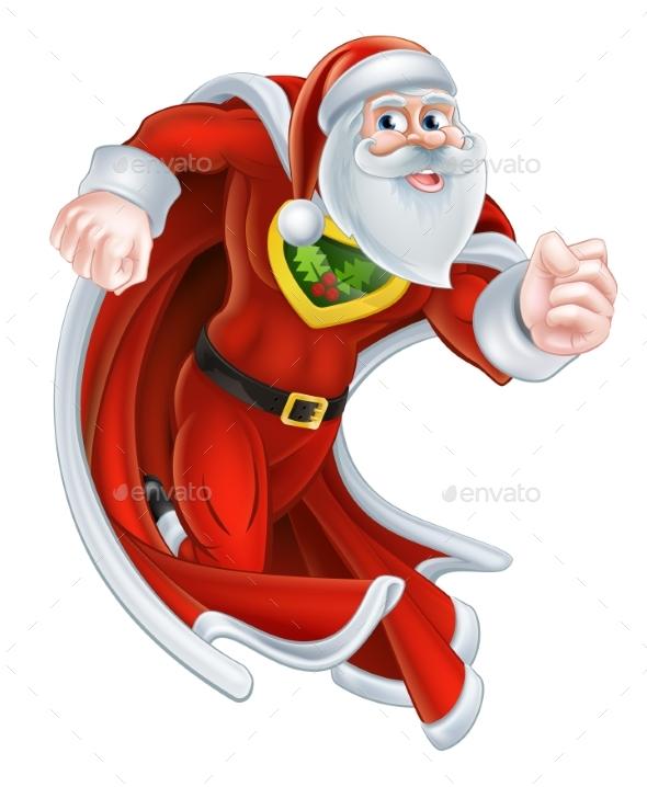 Santa Claus Christmas Superhero - Seasons/Holidays Conceptual