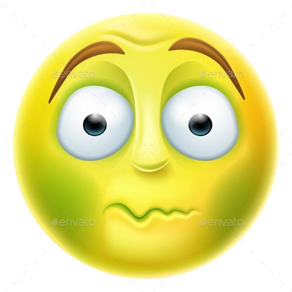 Sick Emoji Emoticon - People Characters